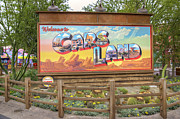 Disney California Adventure Park Prints - Cars Land Print by Ricky Barnard