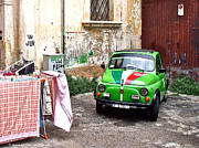 Fiat 500 Framed Prints - Cars of Italy Framed Print by Yvon Van Rijswijk