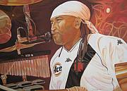 Rocks Drawings Prints - Carter Beauford at Red Rocks Print by Joshua Morton