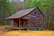 Log Cabins Prints - Carter Shields Cabin 2 Print by Wild Expressions Photography