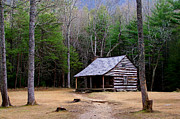 Exterier Prints - Carter Shields Cabin Print by Jim Finch