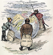 Featured Metal Prints - Cartoon - Imperialism 1885 Metal Print by Granger
