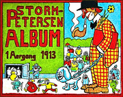 Robert Storm Petersen Metal Prints - Cartoon 01 Metal Print by Svetlana Sewell