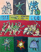 Bang Paintings - Cartoon Soldiers.3 by Fabrizio Cassetta