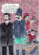 Police Officer Prints - Cartoons Print by Alan Wilkinson
