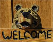 LeeAnn McLaneGoetz McLaneGoetzStudioLLCcom - Carved Welcome Bear
