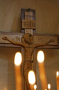 Jesus Photos - Carving of Jesus Christ on the Cross inside Tsminda Sameba Cathedral Tbilisi by Robert Preston