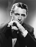 Cary Metal Prints - Cary Grant Portrait Metal Print by Sanely Great