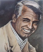 Golden Globe Framed Prints - Cary Grant Framed Print by Shirl Theis