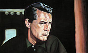 Alfred Hitchcock Paintings - Cary Grant - To Catch a Thief by Robert Scott Chiarella