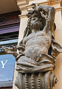 Karluv Most Photos - Caryatid in Prague by Gregory Dyer