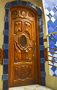 Joseph Photos - Casa Batllo Apartment Door by Jon Berghoff