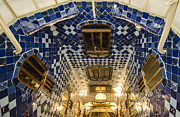 Barcelona Art - Casa Batllo Blue-Tiled Interior by Deborah Smolinske