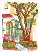 Casa Painting Originals - Casa Doble in Midvale Ave - Westwood - California by Carlos G Groppa