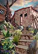 Shed Digital Art Metal Prints - Casa Tijuana Metal Print by Ronald Chambers