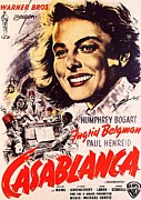 Movie Poster Gallery Posters - Casablanca B Poster by Movie Poster Prints