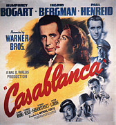 Humphrey Bogart Framed Prints - Casablanca in Color Framed Print by Nomad Art And  Design