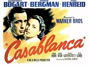 Motion Picture Poster Prints - Casablanca Print by Movie Poster Prints