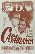 Bogart Posters - Casablanca Poster by Nomad Art And  Design