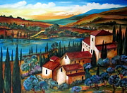 Toscana Paintings - Casale by Roberto Gagliardi