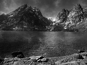 Raymond Salani Iii Framed Prints - Cascade Canyon from Jenny Lake Shore Framed Print by Raymond Salani III