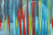 Free Form Paintings - Cascade by Lynne Summers