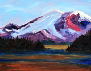 Idaho Scenery Painting Prints - Cascade Light Print by Nancy Merkle