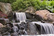 Japanese Garden Photos - Cascade Waterfall by Adam Romanowicz