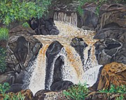 Mpumalanga Paintings - Cascades. by Caroline Street