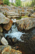 Riverbed Prints - Cascading Downward Print by Donna Blackhall