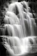 Forks Digital Art Posters - Cascading Falls Poster by Christina Rollo