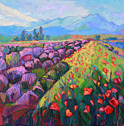 Territory Paintings - Cascading Lavender by Erin Hanson