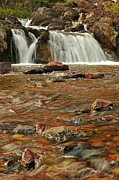 Swiftcurrent Falls Posters - Cascading Water Poster by Sandy Sisti