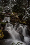 Stream Photos - Cascading Winter Scene by Mike Reid