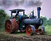 Reeves Prints - Case 110HP Steam Tractor Print by F Leblanc