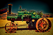 Bill Alexander Framed Prints - Case HDR Tractor - Blue sky Framed Print by Bill Alexander