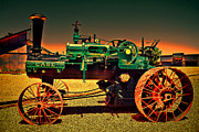 Bill Alexander Framed Prints - Case HDR Tractor - Fire sky Framed Print by Bill Alexander