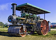 Greyhound Photos - Case Steam Traction Engine Steam Roller by F Leblanc