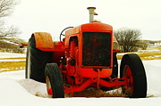 Metal Tires Framed Prints - Case Tractor Framed Print by Jeff  Swan
