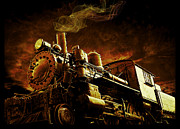 Baldwin Framed Prints - Casey Jones and the Cannonball Express Framed Print by Edward Fielding