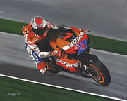 Motogp Prints - Casey Stoner Print by David Wright