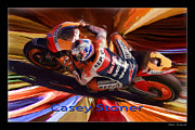 Motogp Posters - Casey Stoner From Above Poster by Blake Richards