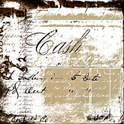 Antique Digital Art Prints - Cash Print by Carol Leigh
