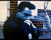 Johnny Cash Posters - Cash - Flesh And Blood Poster by Bobby Zeik