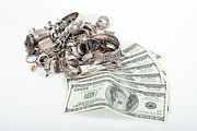 Cash For Sterling Silver Scrap Print by Gunter Nezhoda