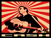 Johnny Cash Posters - Cash Poster by Lance Vaughn