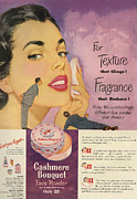 Nineteen-fifties Posters - Cashmere Bouquet 1950 1950s Usa Makeup Poster by The Advertising Archives