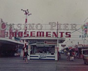 Amusements Posters - Casino Pier Amusements Seaside Heights NJ Poster by Joann Renner
