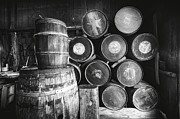 Cooperage Framed Prints - Casks and Barrels Framed Print by George Oze