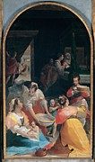 Shades Of Red Framed Prints - Casolani Alessandro, Birth Framed Print by Everett